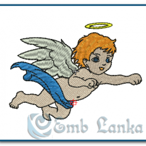Cherub Embroidery Design Angels