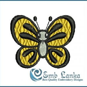 Cute Flying Butterfly Embroidery Design Butterflies