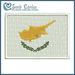 Flags Cyprus Flag Embroidery Design [tag]