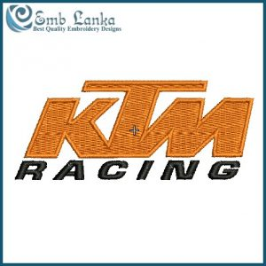 [category] KTM Racing Logo Embroidery Design [tag]