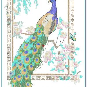 Birds Peacock Crooss Stitch Embroidery Design [tag]
