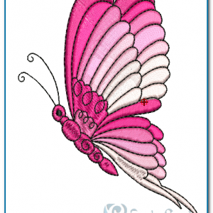 Pink Butterfly Embroidery Design Butterflies