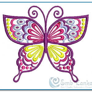 Butterflies Purple Butterfly Embroidery Design [tag]