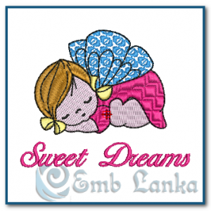 Sleeping Sweet Angel Embroidery Design Angels [tag]