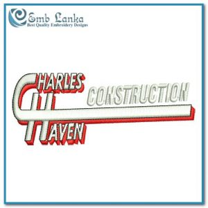 Charles Haven Construction Logo Embroidery Design Custom Digitizing Order