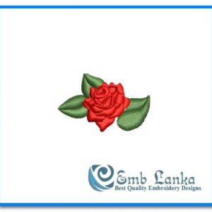 Face Mask Cute Red Rose Flower Embroidery Design [tag]