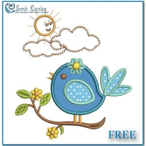 Appliques Free Cute Applique Bird Embroidery Design [tag]