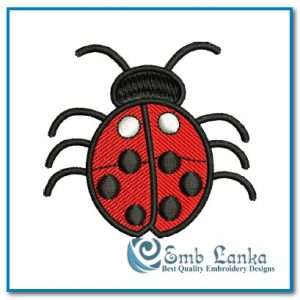 Bugs Free Cute Red Ladybug Embroidery Design [tag]