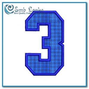 Free No. 3 Applique Embroidery Design Appliques