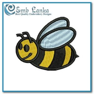 Bugs Free Yellow Bee 2 Embroidery Design [tag]
