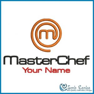 MasterChef Logo with Your Name Embroidery Design Custom Digitizing Order [tag]