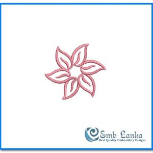 Face Mask Pink Flower Embroidery Design [tag]