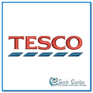 Tesco Logo Embroidery Design