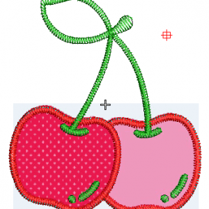 Apple Embroidery Design