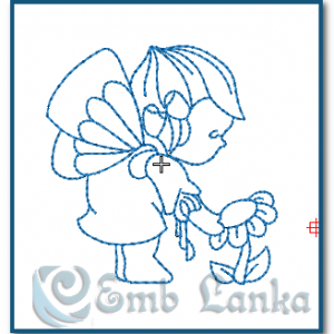 Bluework Baby Angel Embroidery Design Angels