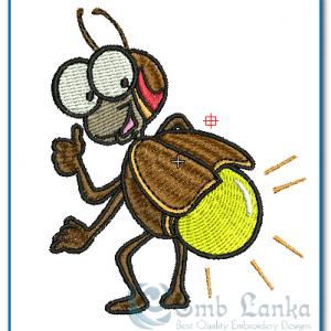 Bugs Lightning Bug Embroidery Design [tag]