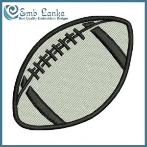 Free designs Rugby Ball 4 Embroidery Design [tag]