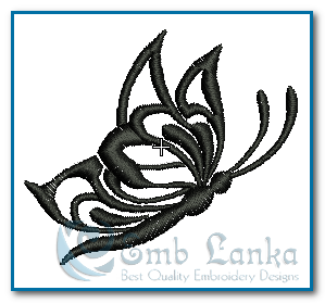 Tattoo Black and White Butterfly 2 Embroidery Design Free designs [tag]