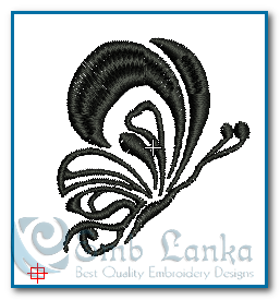 Tattoo Black And White Butterfly 3 Embroidery Design 1322808541, Emblanka