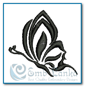 Tattoo Black And White Butterfly 4 Embroidery Design 1322808683, Emblanka