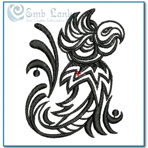 Tribal Parrot 2 Embroidery Design Birds