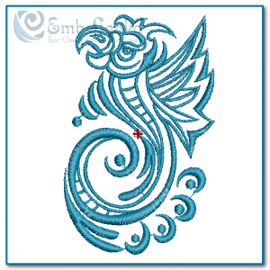 Birds Tribal Parrot Embroidery Design [tag]