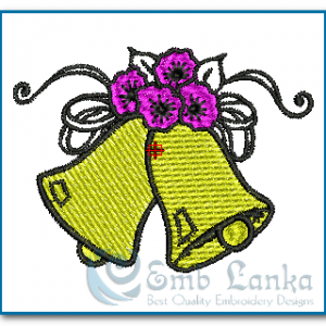 Two Bells With Flowers Embroidery Design 1322569211 300x300, Emblanka
