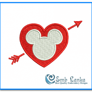 Free Valentines Day Mickey And Minnie Mouse Embroidery Design 300x300, Emblanka