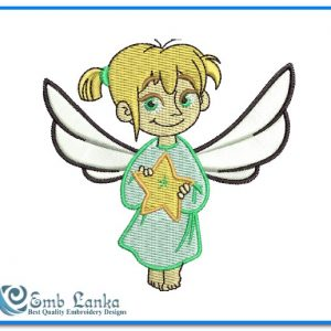 Angel 2 Embroidery Design Angels