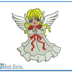 Cute Angel Girl 2 Embroidery Design Angels