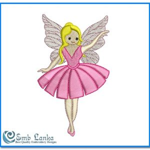 Cute Angel Girl Embroidery Design Angels