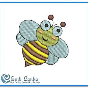 Animals Cute Baby Bee Embroidery Design [tag]