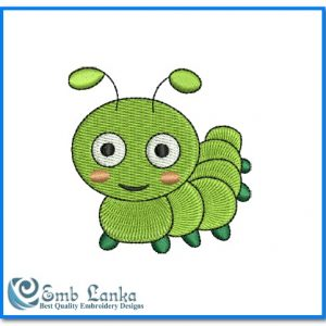 Cute Baby Caterpillar Embroidery Design Animals [tag]