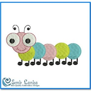 Animals Cute Caterpillar Embroidery Design [tag]