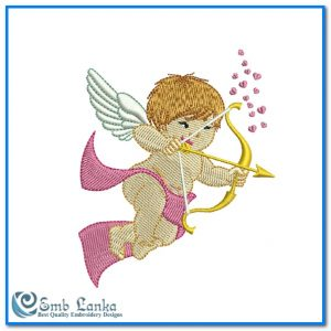 Cute Cupid Angel 2 Embroidery Design Angels [tag]