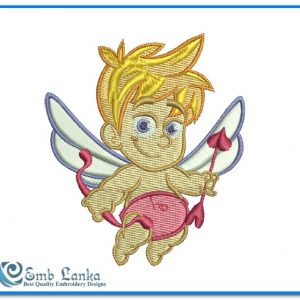 Angels Cute Cupid Angel Embroidery Design [tag]