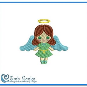 Cute Little Angel Embroidery Design Angels