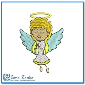 Angels Cute Little Angel Girl Embroidery Design [tag]