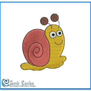 Animals Cute Snail Embroidery Design [tag]