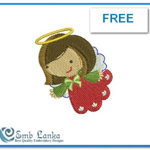 Angels Free Cute Angel 2 Embroidery Design [tag]
