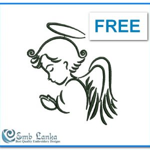 Angels Free Cute Angel Embroidery Design [tag]