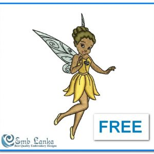 Free Cute Angel Girl Embroidery Design Angels