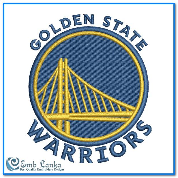 Golden State Warriors Logo Embroidery Design | Emblanka