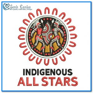 Indigenous All Stars  Rugby League Team Logo 2 Embroidery Design Logos